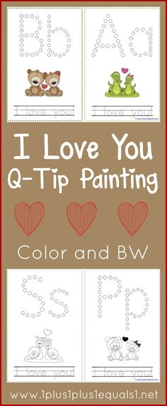 Valentines Day Printables ~ Q-Tip Painting