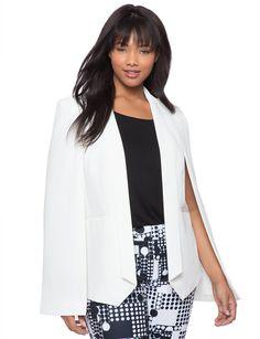 ddb0f9280a Studio Capelet Jacket Soft White White Cape Blazer