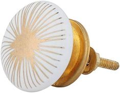 Set of 12 Gold Starburst Ceramic Knobs - Decorative Cabinet Pulls for Cabinets, Drawers and Dressers - Gold and Ceramic Knobs for Living Room, Bathroom Fixtures, or Kitchen Cabinetry by Artisanal Crea - - Amazon.com Cabinet Decor, Cabinet Drawers, Cabinet Knobs, Dresser Knobs And Pulls, Drawer Knobs, Kitchen Cabinetry, Cabinets, Decorative Knobs, Ceramic Knobs