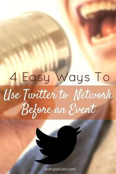 4 Easy Ways to Network on Twitter Before a Conference or Event http://www.overgovideo.com/blog/using-twitter-to-network-before-a-conference-or-event by @alisammeredith