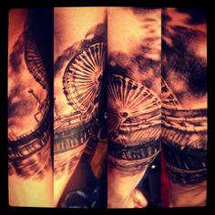 Santa Monica Pier Tattoo #tattoo#santamonica#la#losangeles#pier