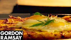 Leek and Gryuere Rosti with Fried Eggs - Gordon Ramsay