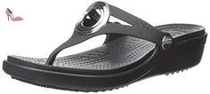 Crocs - Sanrah biseauté Cercle Sandale Femmes, EUR: 35, Black/Black - Chaussures crocs (*Partner-Link)