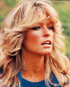 "Everyone wanted their hair like her ... the ""FEATHER FLIP""  aka Farah Do in the 1970's...I had Farrah hair"