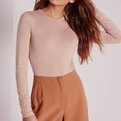jersey long sleeve bodysuit This misguided bodysuit is sold out has never been used and comes with the tag Missguided Tops