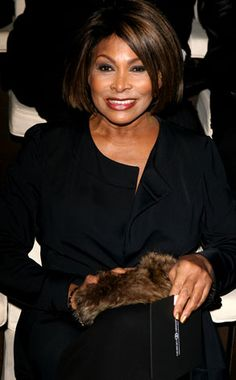 Tina Turner, at the Giorgio Armani fashion show - front row, Milan. Fashion Week - Fall/Winter Photo: Venturelli on Getty Images Mad Max, Tina Turner Albums, Ike Turner, Eartha Kitt, Thing 1, Ageless Beauty, Aging Gracefully, Olivia Newton John, Julie Andrews