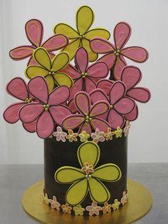 Chocolate daisy cake | Flickr: Intercambio de fotos