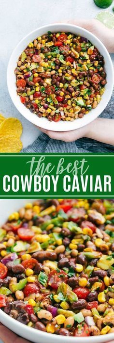 ultimate BEST EVER Cowboy Caviar with a few secret ingredients! A super easy and quick appetizer, salad, or side dish! via The ultimate BEST EVER Cowboy Caviar with a few secret ingredients! A super easy and quick appetizer, salad, or side dish! Mexican Food Recipes, New Recipes, Cooking Recipes, Healthy Recipes, Favorite Recipes, Ethnic Recipes, Healthy Dips, Quick Appetizers, Appetizer Dips