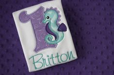 This adorable personalized Birthday shirt or onesie will be the perfect touch to your little ones Under the Sea Party. We will be happy to customize it to