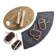 Save $10.00 on the set! This Ash Wood & Slate Cheese Serving Set is a…