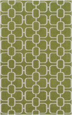 Surya Lockhart LKH9003 Green/Grey Geometric Area Rug