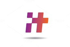 IT or letter H logo vector by @Graphicsauthor