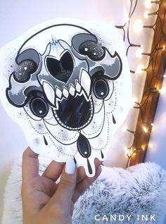#neo #traditional #cat #skull #jewelry #black #tattoo #design
