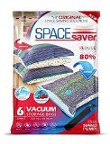#5: SpaceSaver Premium JUMBO Vacuum Storage Bags (Works With Any Vacuum Cleaner  FREE Hand-Pump for Travel!) Double-Zip Seal and Triple Seal Turbo-Valve for 80% More Compression! (6 Pack)