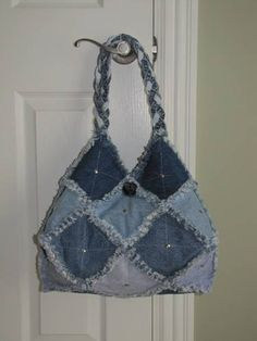 Denim Rag Purse