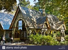 The Dairy Building by Calvert Vaux, Central Park, New York City Stock Photo. Preview