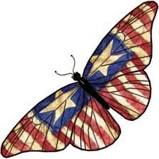 Pretty Red, white, and blue butterfly