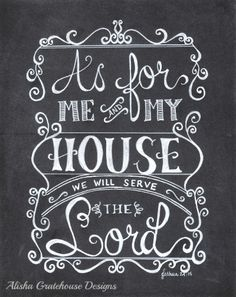 as for me and my house hand lettering - Google Search
