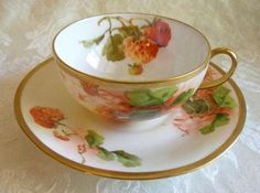 Limoges, Tea Cup and Saucer, Beautiful