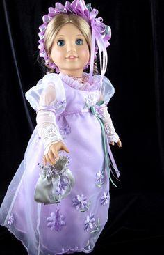 Regency Gown Jane Austen Fits American Girl Caroline Littlecharmersdolldesn | eBay. Sold for $216.48 on 5/14/13.
