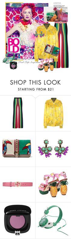 """BRIGHT, BOLD COLORS"" by mariapia65 ❤ liked on Polyvore featuring Bellezza, Balmain, Dries Van Noten, Paula Cademartori, Mercantia, Gucci, Dolce&Gabbana, WeSC, colorblock and bold"