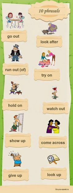 FACE UP to ENGLISH: 10 Phrasal verbs comuns. Significados e exemplos