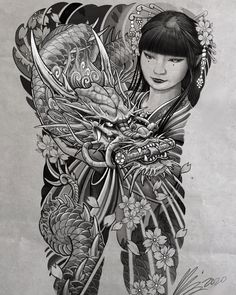 Dragon Tattoo Colour, Dragon Tattoo Art, Dragon Tattoo Designs, Tattoo Sleeve Designs, Sleeve Tattoos, Cool Back Tattoos, Dragon Tattoo Back Piece, Japanese Snake Tattoo, Japanese Tattoo Designs