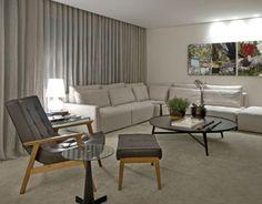 sala com sofa claro