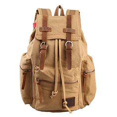 Eabag Unisex's Retro High Quality Canvas Backpack - Back to School (Khaki) EABAG http://www.amazon.com/dp/B00LTO8EVI/ref=cm_sw_r_pi_dp_xTdbub0EA9HGM
