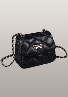 Nora Flap Mini Bag Lambskin Leather Black Lambskin Leather 91a0066a72cc0