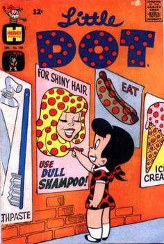 Little Dot does dot grafitti...dot-fitti! Vintage comic book