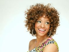 """Love the curls! This is a great transition style from relaxed to natural without the """"big chop"""""""