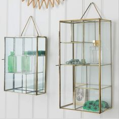 """These hanging storage units that can showcase all of your other pretty shit.   18 Glam AF Products For Your Home That Will Make You Say """"Ooh Pretty"""""""