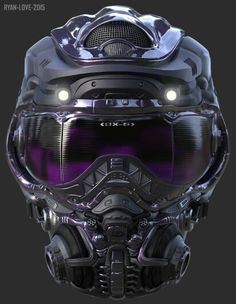 Badass futuristic helmet design, epic helmet concept art for the bad girls, purple lenses, gas mask Airsoft, Taktischer Helm, Tf2 Meme, Custom Helmets, Custom Motorcycle Helmets, Women Motorcycle, Motorcycle Equipment, Racing Helmets, Motorcycle Quotes