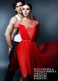 Ivan Vasiliev and Natalia Osipova (in Dior) for Vogue USA - Photo: © Kai Z Feng