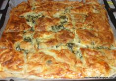 spinach - Food and Drink Oven Dishes, Tasty Dishes, Special Recipes, Great Recipes, Vegetarian Breakfast Recipes Easy, Vegetable Recipes, Chicken Recipes, Quiche, Turkish Recipes