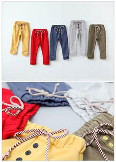 Drawstring Slim Sweatpants for girls 2-7. Cool kids fashion - Color Me WHIMSY 2014 fall.