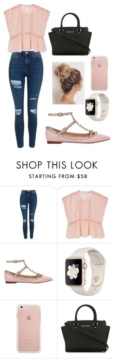"""Untitled #22"" by lauracruzsoriano-2 on Polyvore featuring Topshop, MANGO, Valentino and MICHAEL Michael Kors"