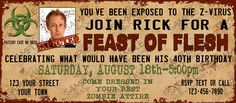 Zombie Apocalypse Invitation & Thank You Set by PartyScribbles