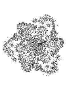 ***FREE MANDALA ADULT COLORING BOOK!*** Here is another sample image straight out of our mandala coloring book! Click the link above to get your very own printable version FREE! If you enjoyed this book we would love to hear about it in an Amazon...