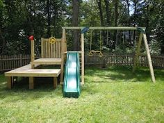 Backyard Diy Playground For Kids Swing Sets 30 Super Ideas Backyard Swing Sets, Backyard Playset, Diy Swing, Backyard For Kids, Backyard Patio, Backyard Ideas, Outdoor Playset, Garden Kids, Outdoor Toys