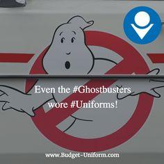 Even the #Ghostbusters wore #Uniforms! #LosAngeles #WorkWear #WorkUniforms https://www.budget-uniform.com/