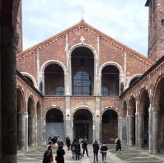 We timed our trip to Milan to coincide with La Fiesta Di Sant'Ambrogio, a public holiday celebrating the patron saint of Milan. Patron Saints, Romanesque, Milan, Louvre, Public, Mansions, House Styles, Building, Holiday
