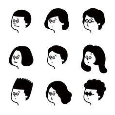 42 Ideas For Line Art People Illustration Simple Illustration, Character Illustration, Graphic Illustration, Fall Drawings, Simple Line Drawings, Cute Drawings, Drawing Sketches, Simple Character, Character Design