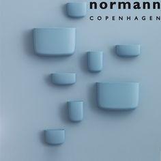 Normann Pocket Organizers in Powder blue.