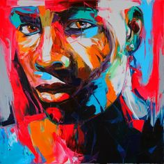 oil on canvas. palette knife. by francoise-nielly