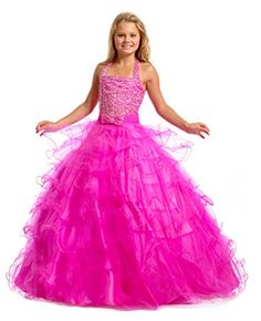 Leho Girls' Halter Layers Ball Gown Beaded Pageant Dresses 8 US Fuchsia Leho http://www.amazon.com/dp/B016W6PU96/ref=cm_sw_r_pi_dp_zEB4wb1CK6N54