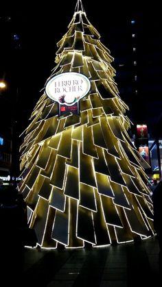 Ferrero Rocher xmas tree