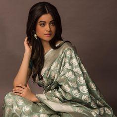 Home - Coloroso Banarasi Sarees, Silk Sarees, Green Saree, Little Bit, Sage, Indian, Pure Products, Celebrities, Color