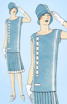 1920s VTG Ladies Home Journal Sewing Pattern 5352 Uncut Misses Flapper Dress 34B #LadiesHomeJournal #FlapperFrock